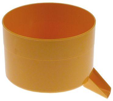 Auffangschale für Zitruspresse mit NR.11 ø 165mm gelb Kunststoff