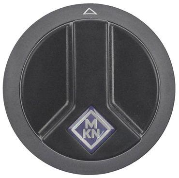 Knebel Achsabflachung oben ø 65mm schwarz für Achse 6x4,6mm