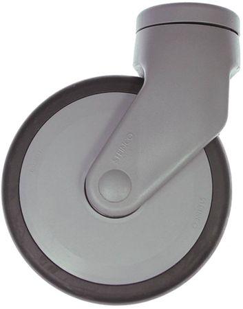 Lenkrolle Befestigung Rückloch Breite 32mm ø 125mm Kunststoff