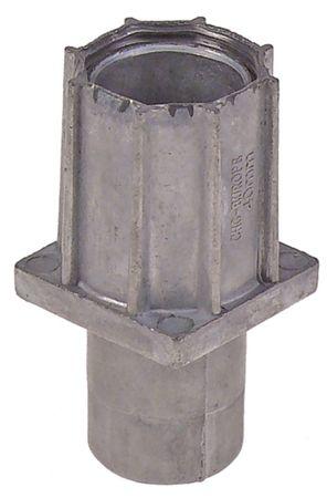 Gerätefuß Höhe 37-65mm Zamak 40x40 VPE 30 Stück