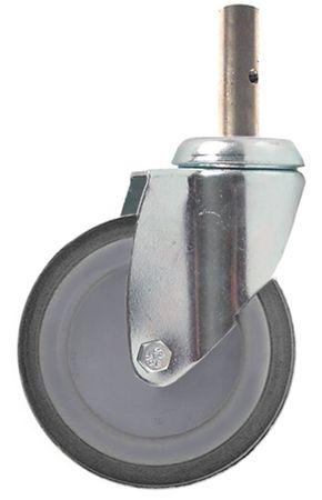 Lenkrolle Befestigung Zapfen Breite 32mm ø 125mm Höhe 163mm 18mm
