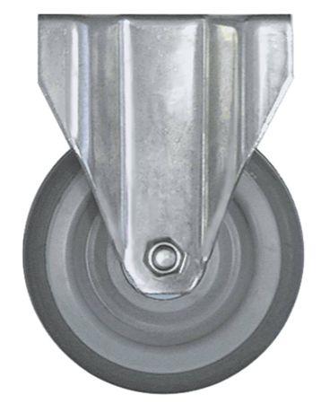 Bockrolle Plattenbefestigung Breite 30mm ø 100mm CNS Höhe 132mm
