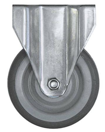 Bockrolle Plattenbefestigung Breite 30mm ø 125mm CNS Höhe 159mm