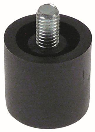 Gerätefuß ø 20mm M5 Gewindelänge 5mm Höhe 18mm