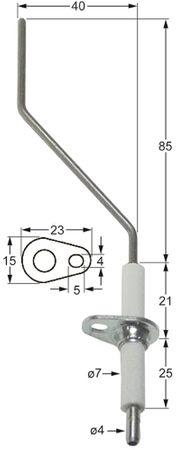 Ambach Zündelektrode für Kochkessel GSK100, GSK-100-80 ø 7mm