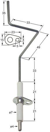 Ambach Zündelektrode für Braten GKB-120, GKB-120-BF ø 7mm