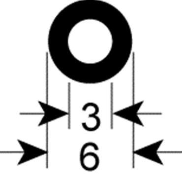 Dichtung für Vakuumiergerät ø 6mm Innen 3mm Silikon