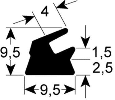 Dichtung für Vakuumiergerät Breite 9,5mm Höhe 9mm Länge 2055mm