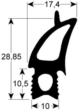 Rational Türdichtung für Kombidämpfer CM101, CD101, CPC101