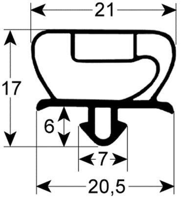 Kühlzellendichtung 3-seitig (kurze Seite offen) Profil 9235