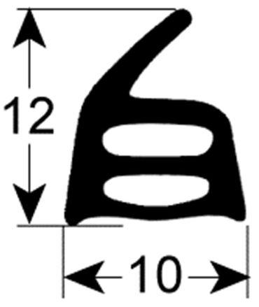Türdichtung für Heissluftofen Bartscher 4300 DX, Sammic HP-434