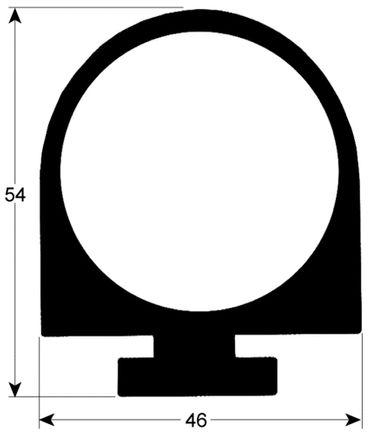 Frigorbox Kühlzellendichtung schwarz Profil 9993 9993V