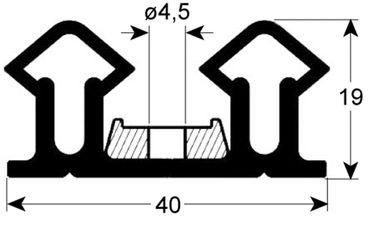 Kühlzellendichtung mit Befestigungsrahmen schwarz Profil 9987