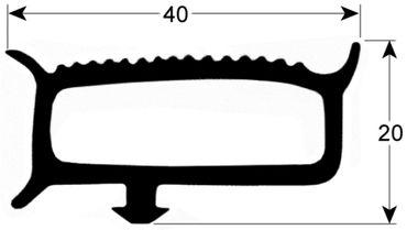 Kühlzellendichtung grau Profil 9780 VPE 6m