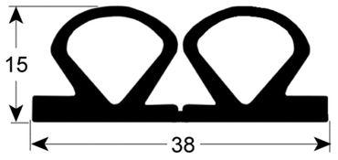 Kühlzellendichtung schwarz Profil 9905 VPE 3m