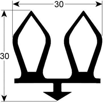 Kühlzellendichtung schwarz Profil 9937 VPE 6m