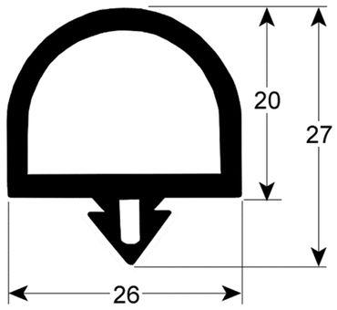 Kühlzellendichtung schwarz Profil 9991 VPE 6m