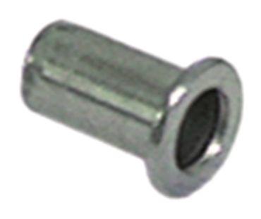 Nietmutter M6 CNS ø 8,9mm Länge 15mm VPE 10 Stück