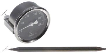 Cookmax Thermometer Einbau 60mm Fühler 8x149mm +500°C