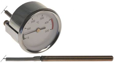Cookmax Thermometer Einbau 60mm Fühler 8x100mm +500°C