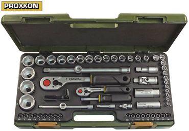 """PROXXON Steckschlüsselsatz 1/4"""" und 1/2"""" 65-teilig"""