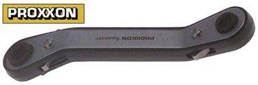 Doppelring-Ratschenschlüssel gekröpft Größe 6/7mm DIN/ISO