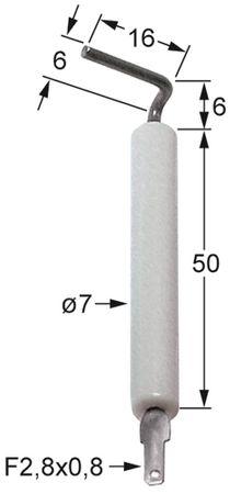Capic Zündelektrode für W382562, W382552 Körperlänge1 50mm