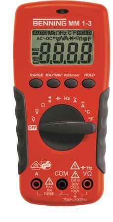 BENNING Multimeter MM 1-3 4-Digits Auto-Range und/oder manuell Ja