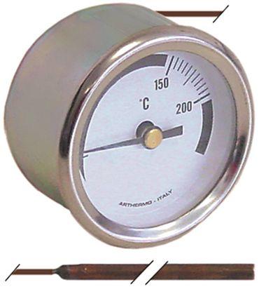 Elframo Thermometer für Fritteuse Gas Einbau 52mm Fühler 4m x 75mm