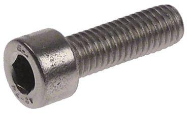 Zylinderkopfschraube SW 6 Gewinde M8 Gewindelänge 20mm CNS