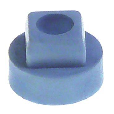 Buchse für Tür Kunststoff Länge 10,8mm Innen 6mm Aussen 15,6mm