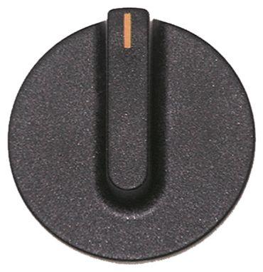 Lotus Knebel Achsabflachung oben Achse ø 6x4,6mm ø 45mm schwarz