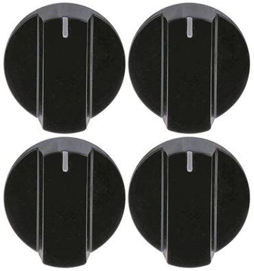 Knebel Achse ø 6x4,6mm ø 47mm Achsabflachung rechts schwarz