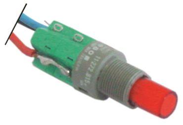 Druckschalter Anschluss Kabel Einbau 12mm rot 1NO 5A IP40 250V 5A