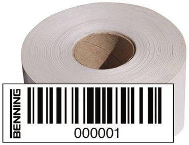 Barcodeetiketten für Gerätetester Modell BENNING