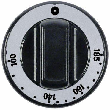 Knebel Thermostat T.max. 180°C 100-180°C ø 70mm Achse ø 6x4,6mm Abflachung universal