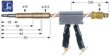 SIT Thermoelement mit Unterbrecher Steckhülse ø6,0(6,5)mm M9x1