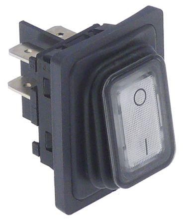 Bonamat Wippenschalter Anschluss Flachstecker 6,3mm beleuchtet 2NO