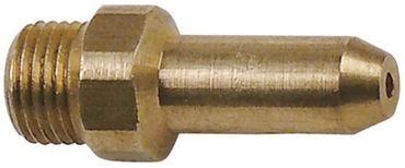 Angelo Po Gasdüse Bohrung 0,90mm M10x1 Länge 31mm SW 12