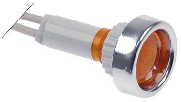 Amatis Signallampe Anschluss Kabel ø 10mm gelb Kabel 200mm 24V
