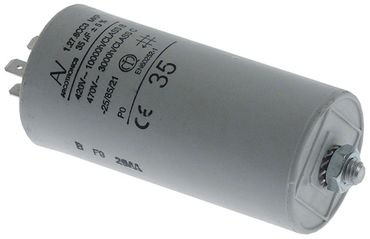 Angelo Po Betriebskondensator Anschluss Flachstecker 6,3mm ø 45mm