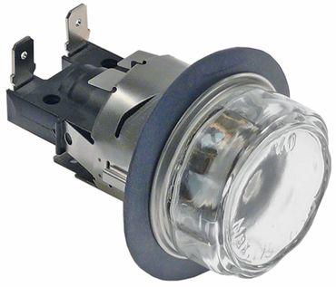 Electrolux Backofenlampe Anschluss F6,3x0,8 komplett Breite 42mm