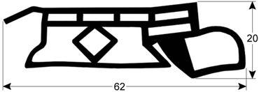 Fagor Hordenwagendichtung Länge 705mm Profil 4160