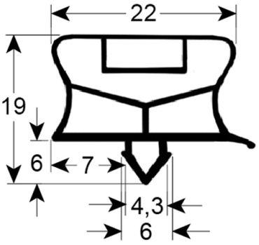 Afinox Kältedichtung Profil 9794 Steckmaß B 270mm L 455mm