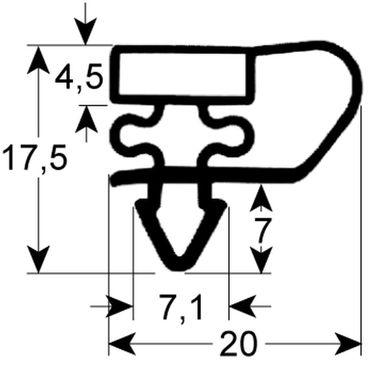 Bonnet Kältedichtung Profil 9153 Steckmaß B 668mm L 732mm