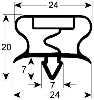 Bonnet Kältedichtung Profil 9195 Steckmaß B 395mm L 1300mm