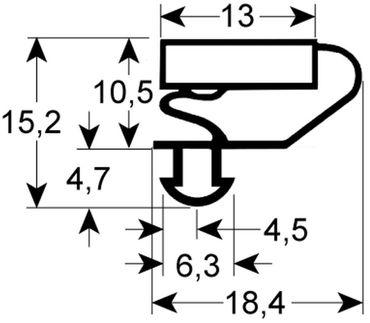 Bonnet Kältedichtung Profil 9703 Steckmaß B 627mm L 1629mm