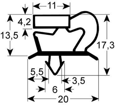 Coldline Kältedichtung Profil 9048 Steckmaß B 636mm L 1542mm
