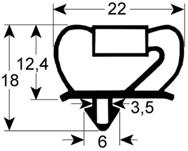 Afinox Kältedichtung Profil 9237 Steckmaß B 294mm L 364mm