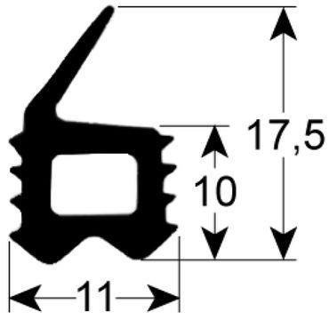 AltoShaam Türdichtung Außenmaß B 530mm L 570mm Profil 2708